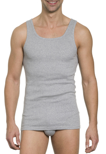 Herren Unterhemd Feinripp Doppelpack - Haasis Bodywear