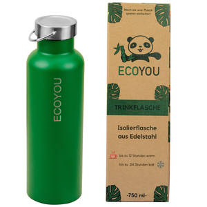 EcoYou Edelstahl Trinkflasche Isolierflasche 750 ml Thermosflasche - EcoYou