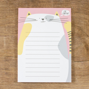 Notizblock Cat Content - Bow & Hummingbird