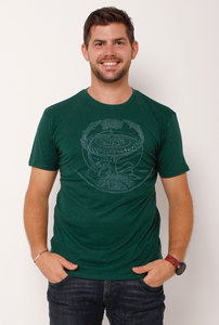 "Ecovero®-Herren-T-Shirt ""Weltenesche"" - Peaces.bio - Ecovero® - handbedruckt"