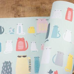 Geschenkpapier Cats - Bow & Hummingbird