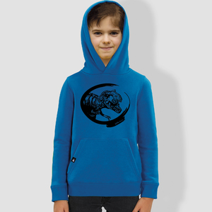 "Kinder Hoodie, ""Dino"", Royal Blue - little kiwi"