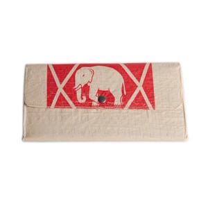 Portemonnaie Bopha zweifach gefaltet aus Zement-/ Fischfutter-/ Reissack - Upcycling Deluxe