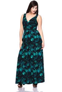 VIRGINIA Maxi Kleid aus Bambusfasern (Dschungelprint) - Ingoria