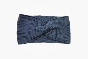 Stirnband/Turban mit Twist aus Wolle im Perlmuster - vincente