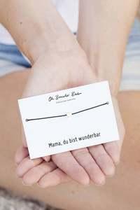 "Nylonarmband Herz ""Mama, du bist...""   optional mit Gravur - Oh Bracelet Berlin"