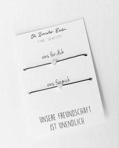 Freundschaftsarmband 2er Set | optional mit Gravur - Oh Bracelet Berlin