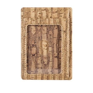 Kork Karten-Portemonnaie mit Sichtfenster - corkor