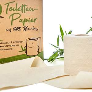 8 - 96 Rollen Klopapier / Toilettenpapier Bambus á 200 Blatt - 3 lagig - Bambuswald