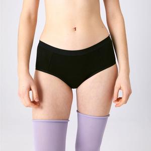Menstruations-Panty Hipster Schwarz - KORA MIKINO SUSTAINABLE FEMCARE