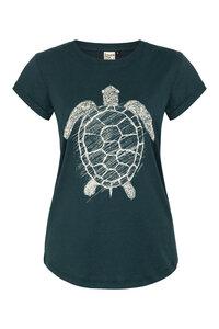 Schildkröte Organic Women Shirt _ teal / ILK02 - ilovemixtapes