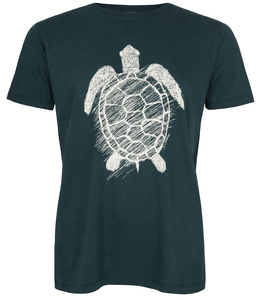 Schildkröte Organic Men Shirt _ teal / ILK01 - ilovemixtapes