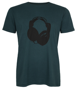 Kopfhörer Organic Men Shirt _ teal / ILK01 - ilovemixtapes