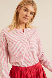 Streifenhemd aus Bio-Baumwolle - LANIUS