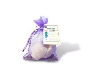 S.A.M. natürliche Baby & Kinder Badekugel Seepferdchen Lavendel, 120g - S.A.M.