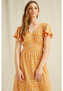 Blumen Kleid - Morgan Blossom Print Maxi Dress - People Tree