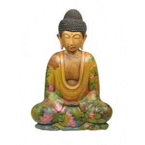 Holzbuddha mit Ganesh  - Just Be
