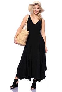 ADELIA asymmetrisches Kleid aus seidigem Modal-Jersey - Ingoria