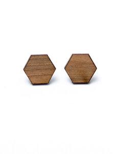 Ohrstecker Hexagon - Zerum