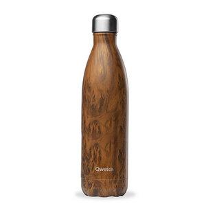 Isolierte Trinkflasche 750ml - Holzoptik  - Qwetch