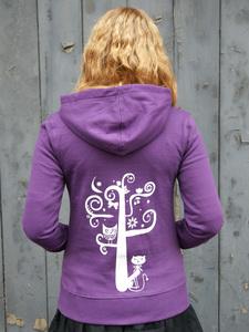 """""""Nighttimetree"""" Frauen-HOODY FAIR TRADE - shop handgedruckt"""