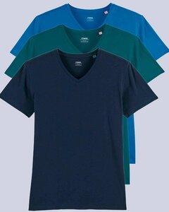 3er Pack Herren T-Shirt mit V-Ausschnitt, Bio-Qualität - YTWOO