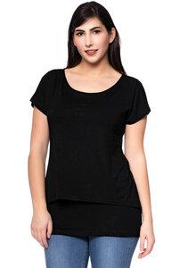 APRIL Zweilagiges Shirt aus Bambusfasern  - Milchshake