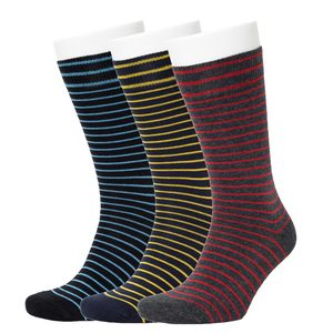 3er Set Stripe Pattern Socks - Opi & Max