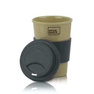 Nachhaltiger Kaffee-Becher to go aus Reishülsen von avoid waste - avoid waste