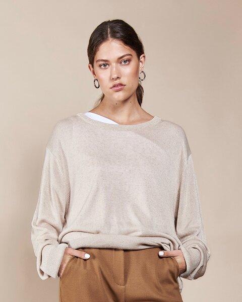 Oversized Pullover CALI beige