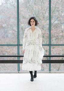 Wickelkleid Helena Snow - Wickelkleid Damenkleid aus Bio-Baumwolle - Sophia Schneider-Esleben