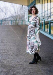 Wickelkleid Helena Bali - Wickelkleid Damenkleid aus Bio-Baumwolle - Sophia Schneider-Esleben