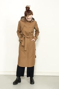 Raincoat drops / nautic blue and cinnamon camel - ein garten Studios