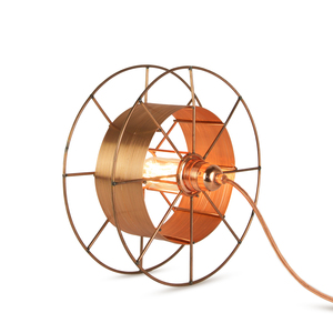 Stehleuchte Spool upcycling Deluxe kupfer - Tolhuijs Design