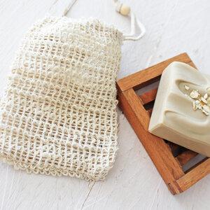 Seifensäckchen aus Sisal mit Kordel - Eve Butterfly Soaps