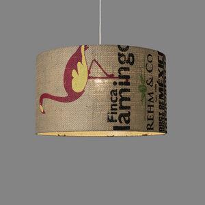 Deckenleuchte Perlbohne N°59 aus Kaffeesack - lumbono