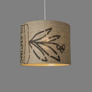Deckenleuchte Perlbohne N°73 aus Kaffeesack - lumbono