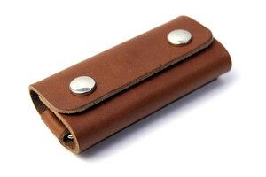 Schlüsselmäppchen, Schlüsseletui FESTMOKER  pflanzlich gegerbtes Leder - Pack & Smooch