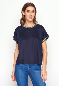 EcoVero T-Shirt Bluse Choice Navy - GreenBomb