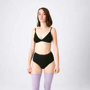 3er Sparpack Menstruations-Panty Hilde Schwarz - KORA MIKINO SUSTAINABLE FEMCARE