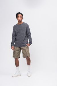 Knit Crew Neck blau / grün - recolution