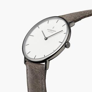 Armbanduhr Native Anthrazit - Italienisches Lederarmband - Nordgreen Copenhagen