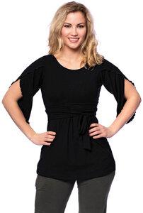 2tlg. VARIO-SET(LUNA & NANA) Umstands- &Stillshirt mit Croptop  - Milchshake