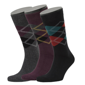 3er Set Argyle Pattern Socks - Opi & Max