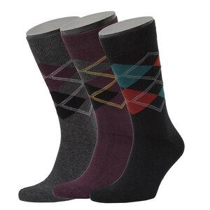 3er Set Argyle Pattern Socks - Opi & Max