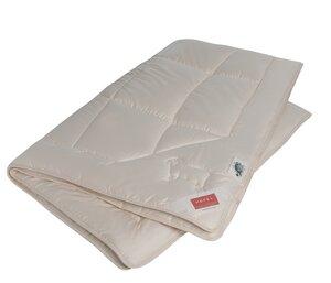HEFEL Bettdecke Ganzjahresdecke Bio-Wool Bezug 100 % Organic Cotton Feinsatin -Füllung 100 % Schafschurwolle (kbT) - HEFEL Textil