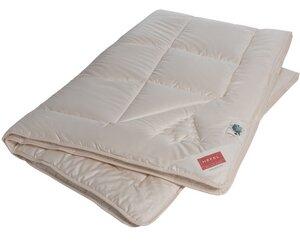 HEFEL Bettdecke Ganzjahresdecke Bio Zirbe 100 % Organic Cotton Feinsatin -Füllung 100 % Schafschurwolle (kbT)+ Zirbe - HEFEL Textil