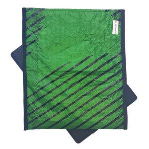 Handgearbeitete Notebook-Tasche / Hülle Segeltuch UNIKAT 16 Zoll grün  - Beachbreak