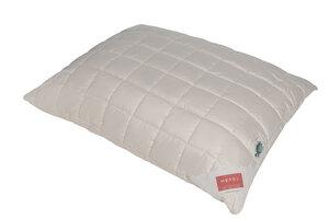 HEFEL Kissen Bio Zirbe 100 % Organic Cotton Feinsatin -Füllung 100 % Schafschurwolle (kbT)+ Zirbe - HEFEL Textil