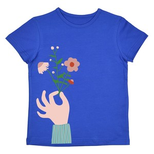 T-Shirt flower royalblue - Baba Babywear